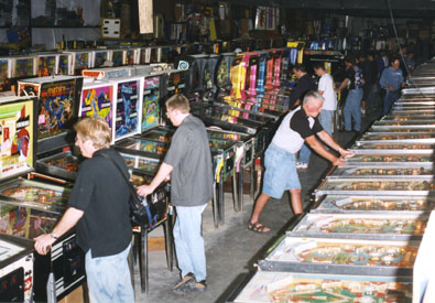 <i>Rows and rows of games now located in the PHOF!