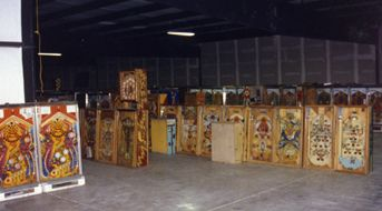"<i>Games are in Tim's 10,000 sq. ft. ""shed"" <br> ready to be set up to host fun nights.</i>"